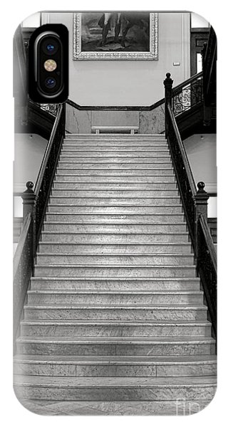 Capitol Building iPhone Case - Maine Capitol West Wing Staircase by Olivier Le Queinec