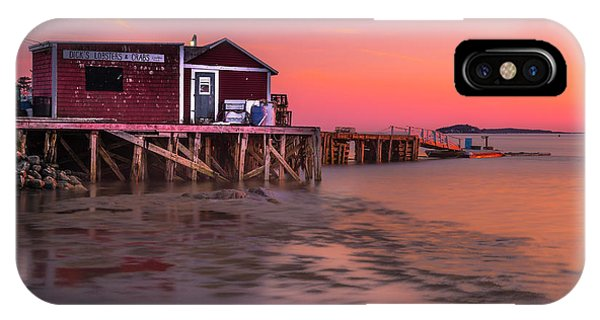 Maine Coastal Sunset At Dicks Lobsters - Crabs Shack IPhone Case