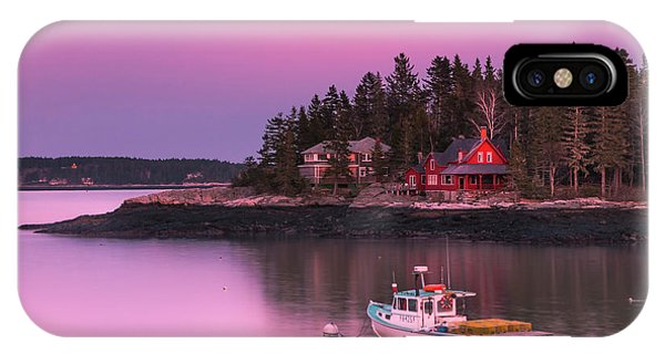 IPhone Case featuring the photograph Maine Five Islands Coastal Sunset by Ranjay Mitra