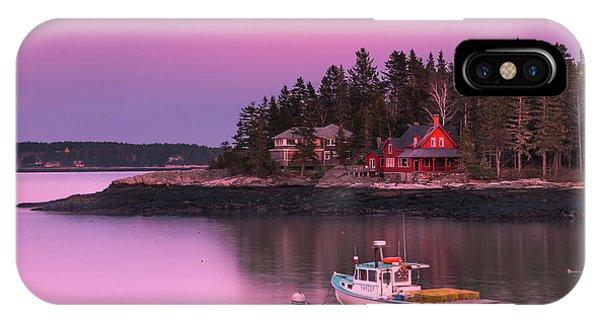 Maine Five Islands Coastal Sunset IPhone Case