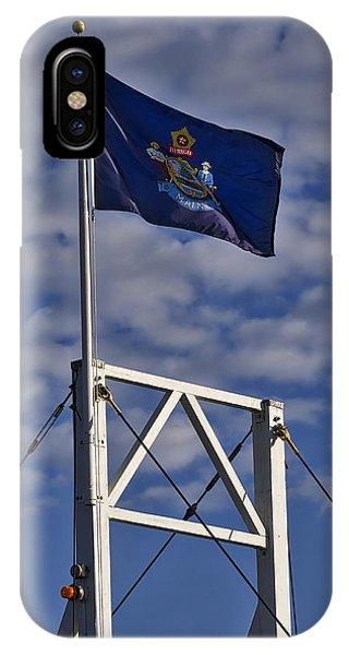 Maine Flag -perkins Cove Bridge IPhone Case