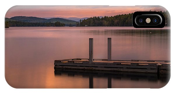 IPhone Case featuring the photograph Maine Highland Lake Boat Ramp At Sunset by Ranjay Mitra