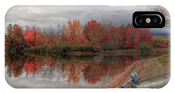 Maine Lake In Autumn IPhone Case