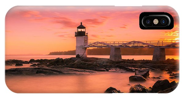 Maine Lighthouse Marshall Point At Sunset IPhone Case