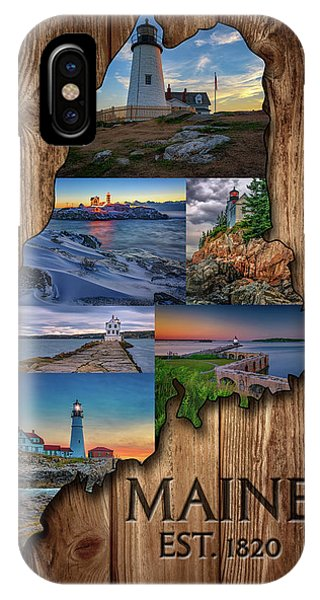 New England Coast iPhone Case - Maine Lighthouses Collage by Rick Berk