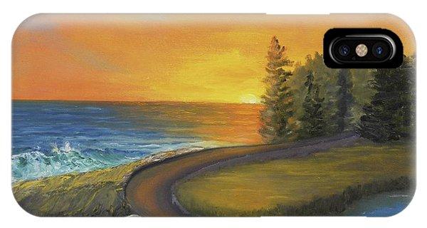 Maine Ocean Sunrise IPhone Case