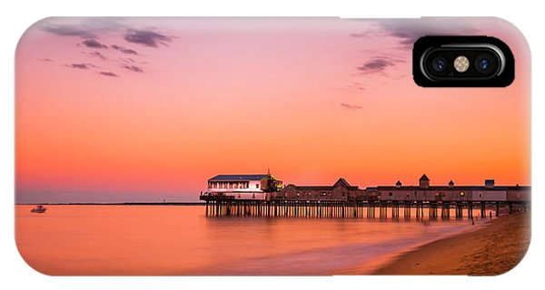 Maine Old Orchard Beach Pier At Sunset IPhone Case