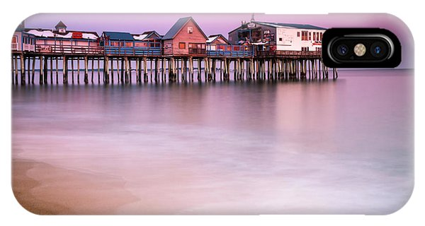 Maine Old Orchard Beach Pier Sunset  IPhone Case