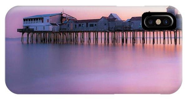 Maine Oob Pier At Sunset Panorama IPhone Case