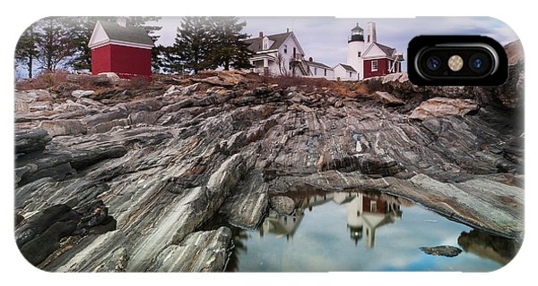 Maine Pemaquid Lighthouse Reflection IPhone Case