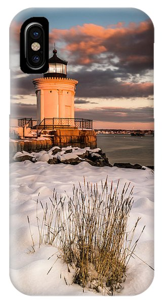 IPhone Case featuring the photograph Maine Portland Bug Light Lighthouse Sunset  by Ranjay Mitra