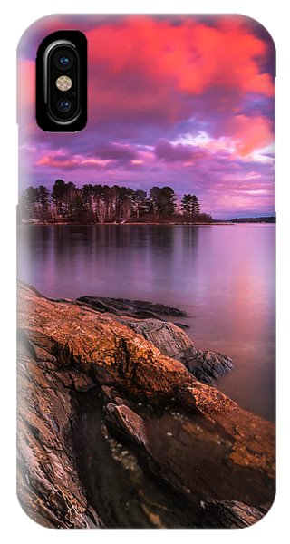 Maine Pound Of Tea Island Sunset At Freeport IPhone Case