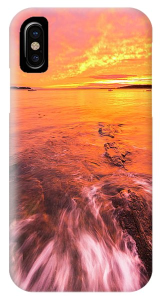 Maine Rocky Coastal Sunset At Kettle Cove IPhone Case