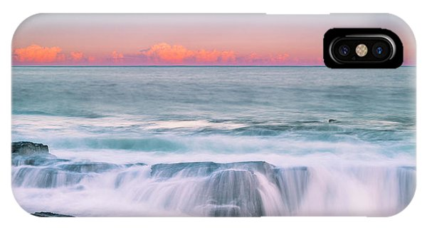 Maine Rocky Coastal Sunset Panorama IPhone Case