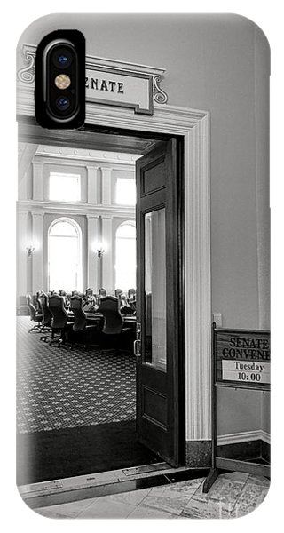 Capitol Building iPhone Case - Maine Senate Chamber Doorway by Olivier Le Queinec