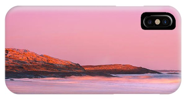 Maine Sheepscot River Bay With Cuckolds Lighthouse Sunset Panorama IPhone Case