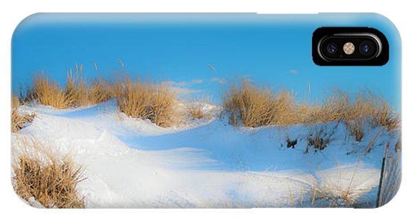 Maine Snow Dunes On Coast In Winter Panorama IPhone Case