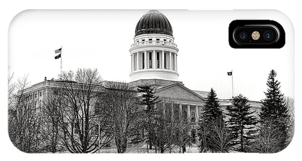 Capitol Building iPhone Case - Maine State Capitol In Winter by Olivier Le Queinec