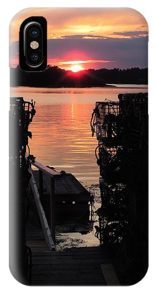 Maine Sunset And Traps IPhone Case