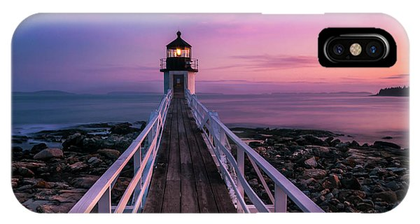 Maine Sunset At Marshall Point Lighthouse IPhone Case