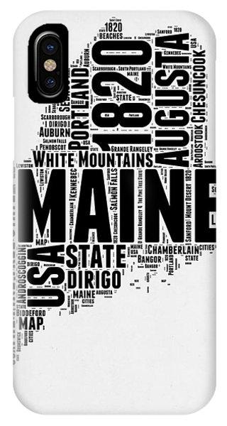 Maine Word Cloud 2 IPhone Case