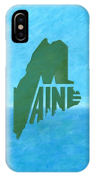 Maine Wordplay IPhone Case