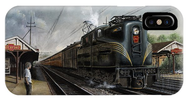 Train iPhone X Case - Mainline Memories by David Mittner