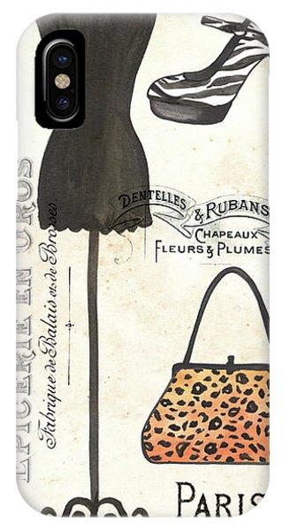 Fashion iPhone Case - Maison De Mode 1 by Debbie DeWitt