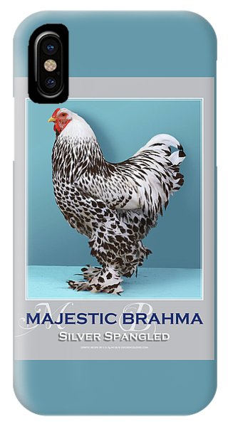 iPhone Case - Majestic Brahma Silver Spangled by Sigrid Van Dort