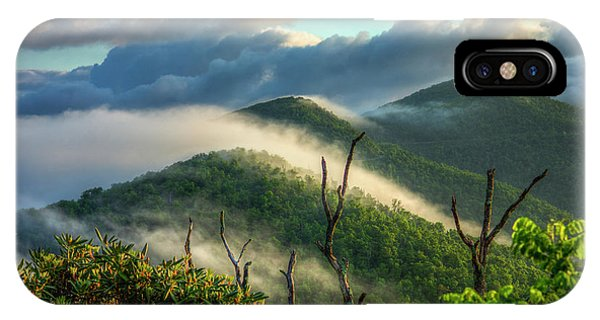 Majestic Clouds Blue Ridge Parkway Smoky Mountains Art IPhone Case