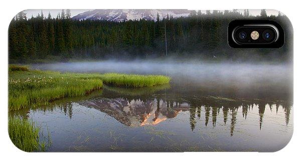 Lake iPhone X Case - Majestic Dawn by Mike  Dawson