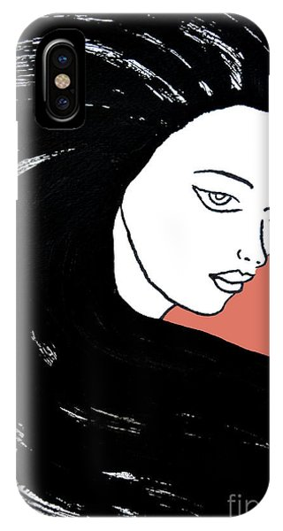 Majestic Lady J0715d Calypso Coral 17-1744 Ee5c6c  De7766 IPhone Case