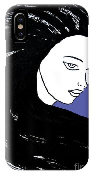 Majestic Lady J0715f J0715f Marina Blue Pastel Painting 17-4041 4f84c4 585fa8 IPhone Case