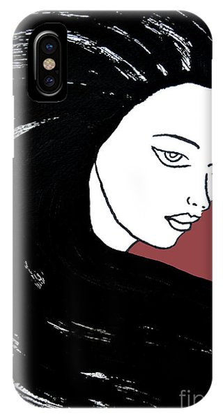 Majestic Lady J0715g Marsala Red Pastel Painting 18-1438 964648 964f4c IPhone Case