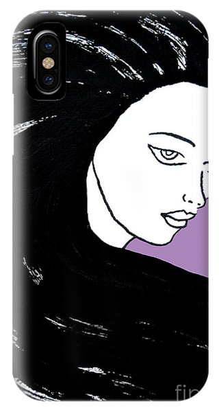 Majestic Lady J0715h Radient Orchid Pastel Painting 18-3224 B565a7 A985bb IPhone Case