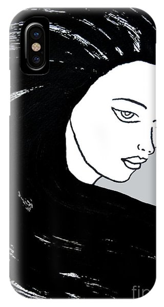 Majestic Lady J0715i Shadow Gray Pastel Painting 16-1509 Bba5a0 C6cacc IPhone Case