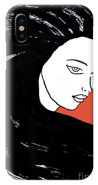 Majestic Lady J0715j Tangerine Tango Orange Pastel Painting 17-1463  E1523d F0532a IPhone Case