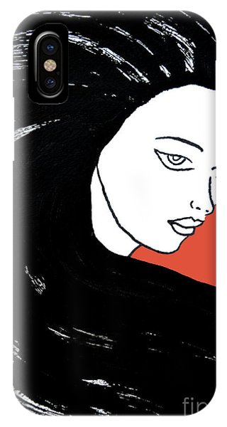 Majestic Lady J0715j Tangerine Tango Orange Pastel Painting 17-1463  E1523d F0532a IPhone Case