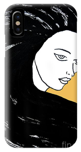 Majestic Lady Mimosa Yellow Pastel Painting 14-0848 F0b59 IPhone Case