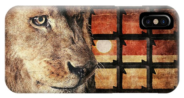 Majestic Lion In Captivity IPhone Case