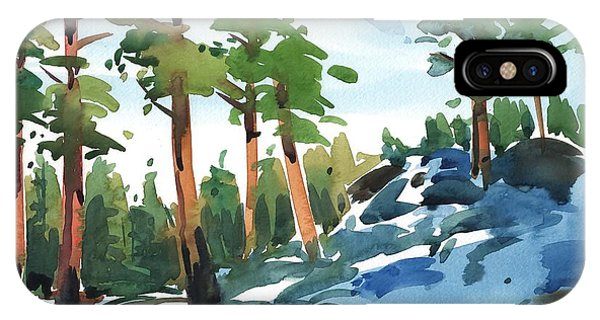 Majestic Pines In The Snow IPhone Case