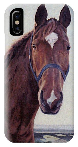 Majestic Roger- Chestnut Horse IPhone Case