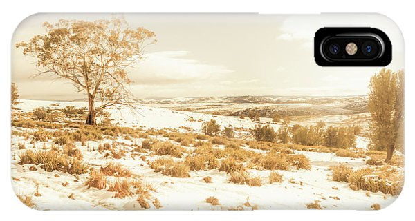Cold Day iPhone Case - Majestic Scenes From Snowy Tasmania by Jorgo Photography - Wall Art Gallery