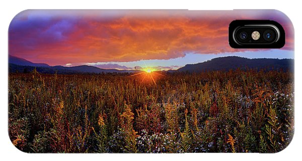 Majestic Sunset Over Cades Cove In Smoky Mountains National Park IPhone Case