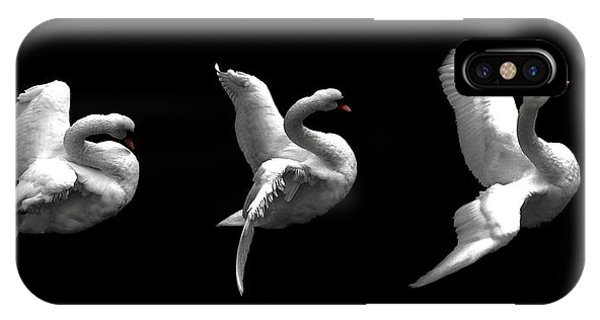 Majestic Swan Triptych IPhone Case