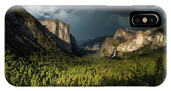 Cloud iPhone Case - Majestic Yosemite National Park by Larry Marshall
