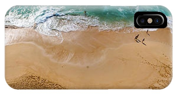 Makaha Beach Panorama IPhone Case