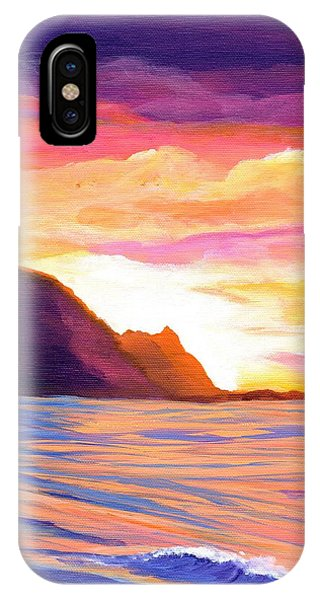 Hawaiian Sunset iPhone Case - Makana Sunset by Marionette Taboniar