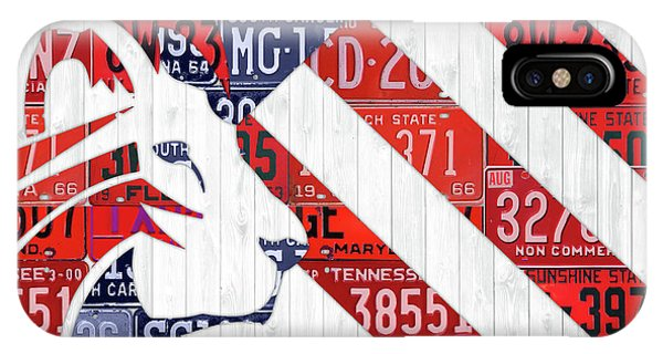 Again iPhone Case - Make America Great Again Maga Flag Art Trump Recycled Vintage License Plates Art by Design Turnpike