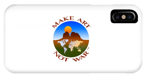 Make Art Not War Logo IPhone Case